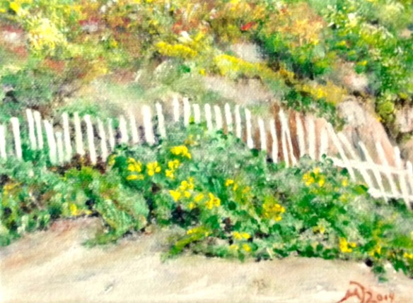 Sea Fence at the Cottages - Crystal Cove (exhibit at Towers Gallery, starting November 2014)