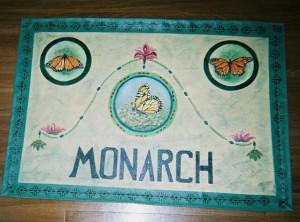 Monarch, canvas floorcloth 2005