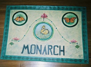 Monarch, canvas floorcloth 2005