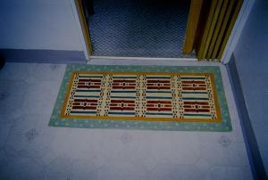 Small Stenciled Canvas rug 2005