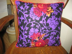 Purple-Red-Black Pillow