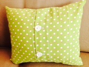Stenciled Pillow - Back Detail