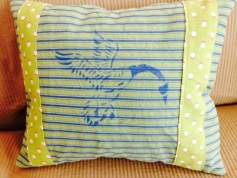 Stenciled Pillow - Goose (front)