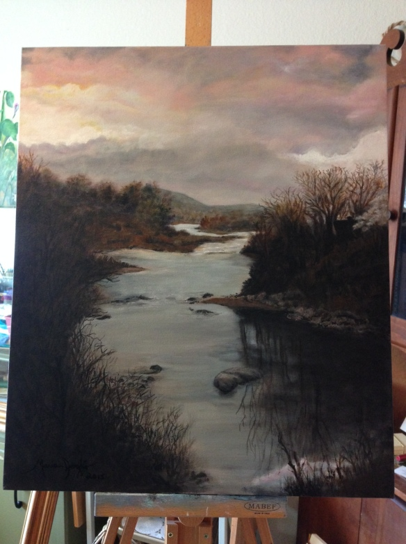 West River_on the easel March 2015