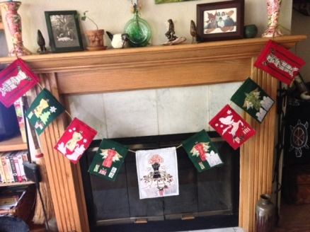manikin Xmas flag_fireplace
