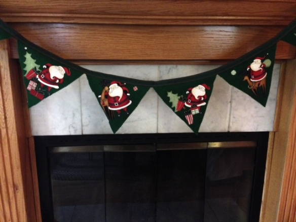 Santa Bunting Flag